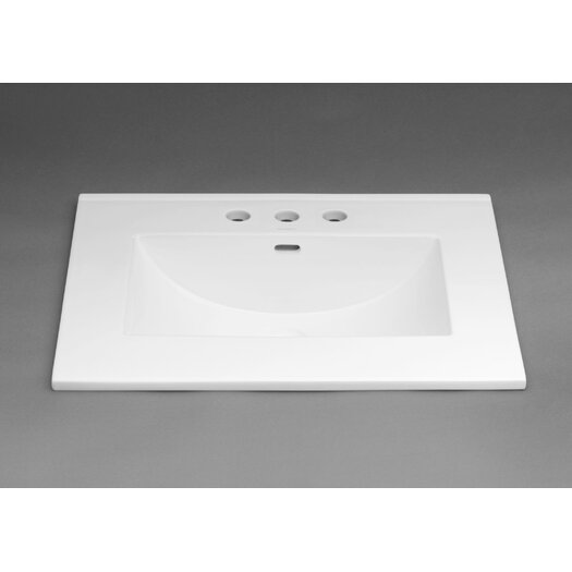 """Ronbow Kara™ 31"""" Ceramic Sinktop with 8"""" Widespread Faucet Hole in White"""