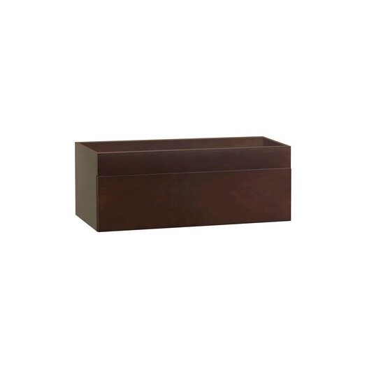 "Ronbow Rebecca 36"" Wall Mount Bathroom Vanity Base Cabinet in Dark Cherry"