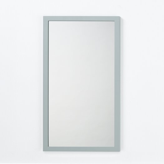 Ronbow Solid Wood Framed Bathroom Mirror In Ocean Gray Allmodern