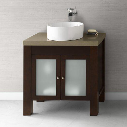 "Ronbow Devon 31"" Bathroom Vanity Base Cabinet in Vintage Walnut"