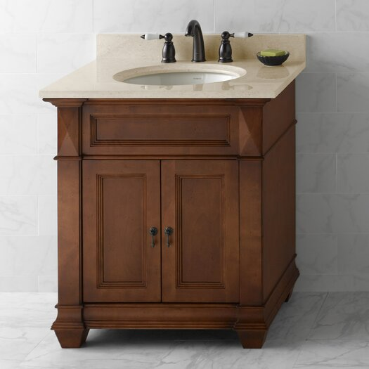 """Ronbow Torino 30"""" Bathroom Vanity Cabinet Base in Colonial Cherry"""