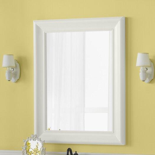 "Ronbow Traditional 29"" x 37"" Solid Wood Framed Bathroom Mirror in Cream"
