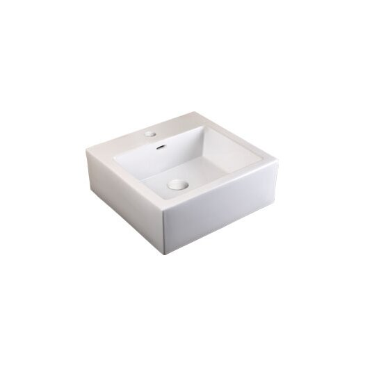"Ronbow Prominent™ 32"" Ceramic Sinktop with Single Faucet Hole in White"