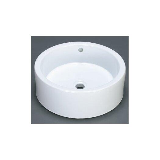 Ronbow Round Ceramic Vessel Bathroom Sink with Overflow
