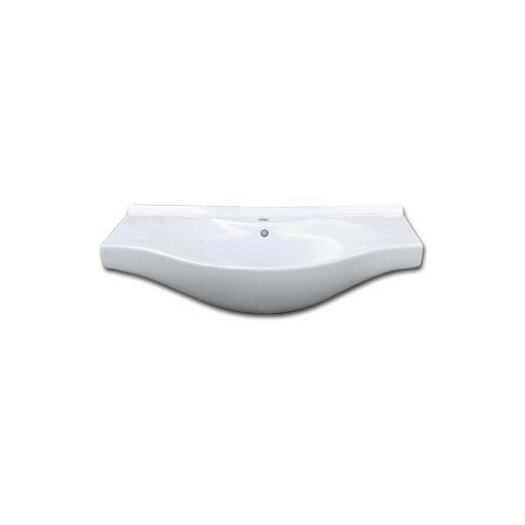 """Ronbow Adara 32"""" Ceramic Sinktop with Single Faucet Hole in White"""