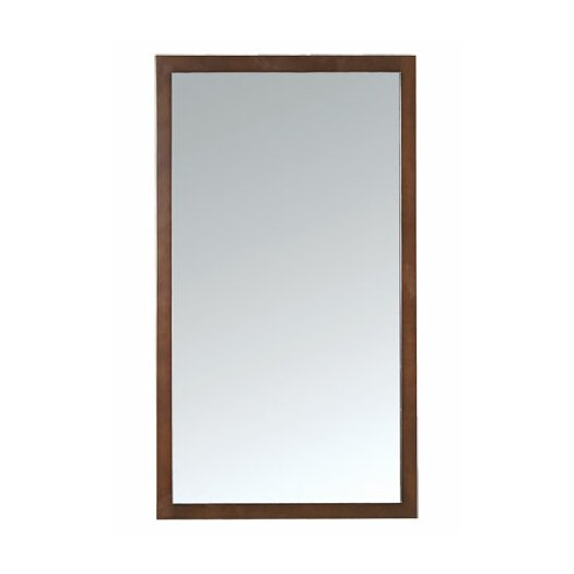 Ronbow Contemporary Solid Wood Framed Bathroom Mirror in Cinnamon