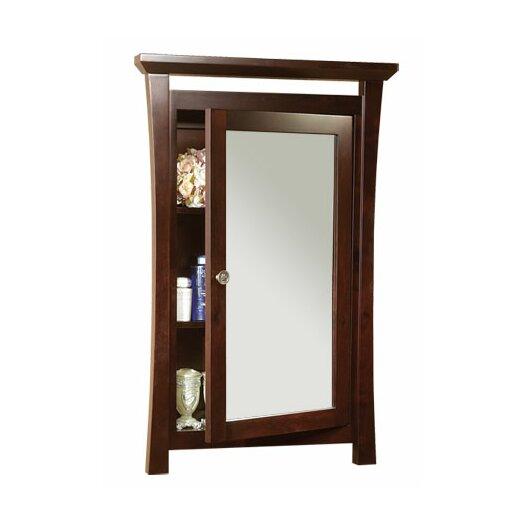 Ronbow Pacific Rim Solid Wood Framed Medicine Cabinet in Vintage Walnut