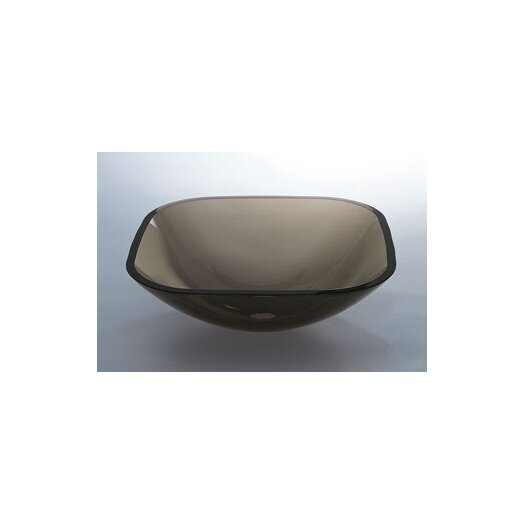 Ronbow Square Glass Vessel Bathroom Sink
