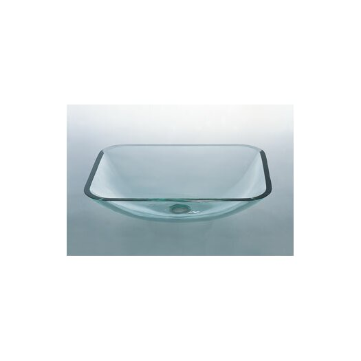 Ronbow Rectangular Vessel Bathroom Sink with Tempered Glass