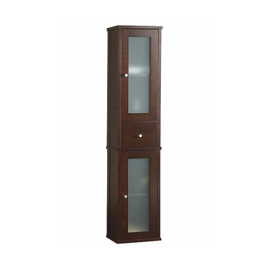 "Ronbow Tall 55"" Bathroom Wall Cabinet in Dark Cherry"