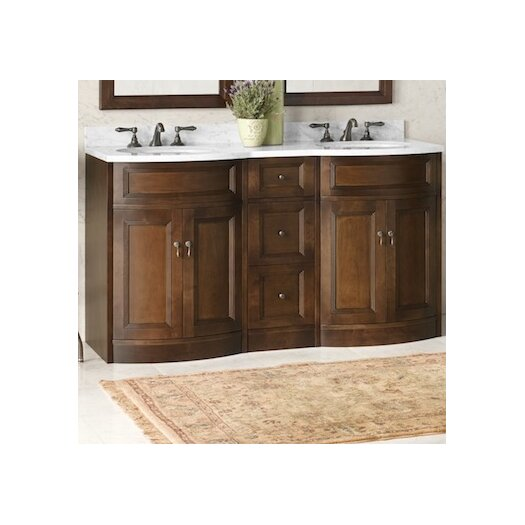 "Ronbow Marcello 24"" Bathroom Vanity Cabinet Base in Café Walnut"