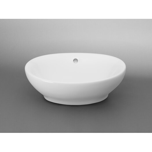 Ronbow Oval Ceramic Vessel Bathroom Sink with Overflow