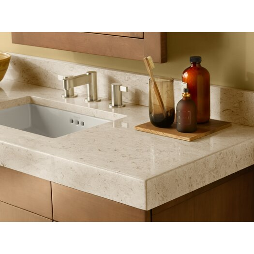 """Ronbow WideAppeal™ 48"""" x 19"""" Marble Vanity Top in Cream Beige - 2 3/4"""" Thick"""