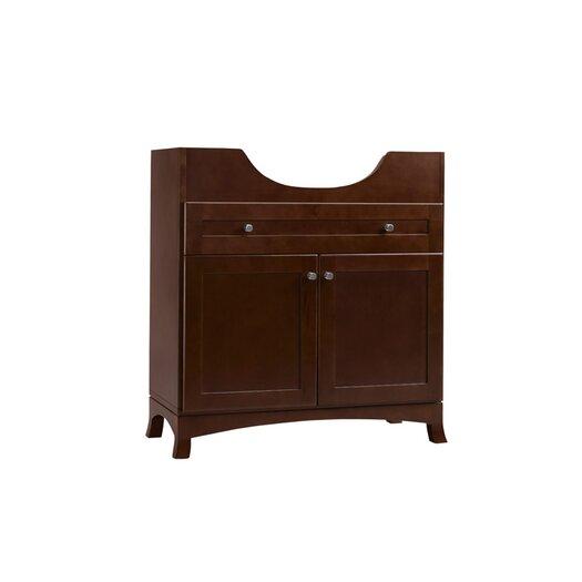 "Ronbow Adara 31"" Space Saver Bathroom Vanity Cabinet Base in Dark Cherry - Wood Door"