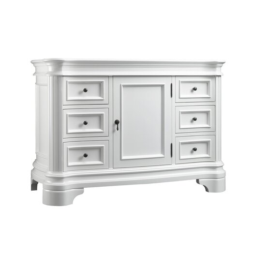"Ronbow Le Manns 48"" Bathroom Vanity Cabinet Base in Cream"