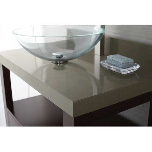 """Ronbow TechStone™ WideAppeal™ 32"""" x 19"""" Vanity Top in Grand Green - 2"""" Thick"""