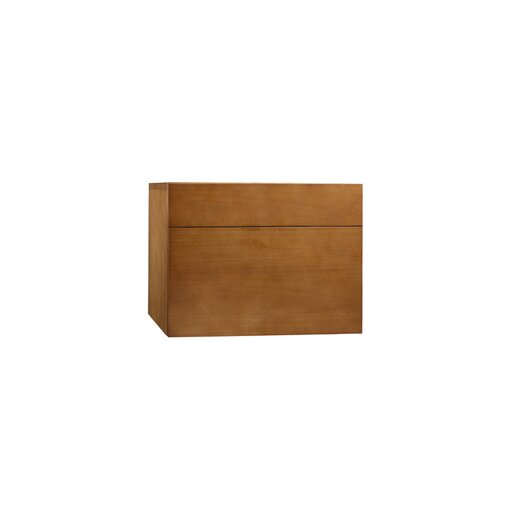 "Ronbow Rebecca 18"" Wall Mount Drawer Bridge with Wood Front in Cinnamon"