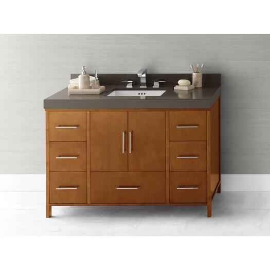 "Ronbow Juno 48"" Bathroom Vanity Cabinet Base in Cinnamon"