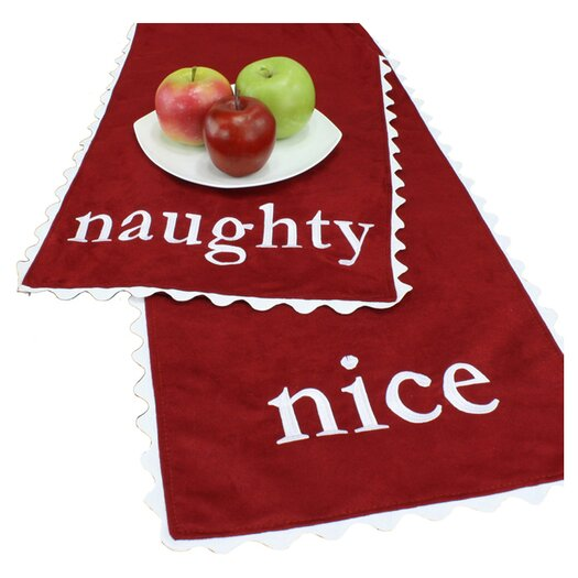 """Brite Ideas Living Passion Suede """"Naughty-Nice"""" Table Runner"""