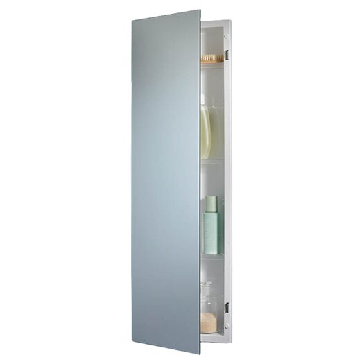 Jensen pillar 12 x 36 recessed medicine cabinet allmodern for Bathroom medicine cabinets 14 x 18
