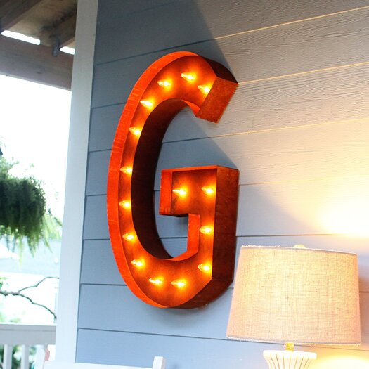 Vintage Marquee Lights Letter Wall Decor