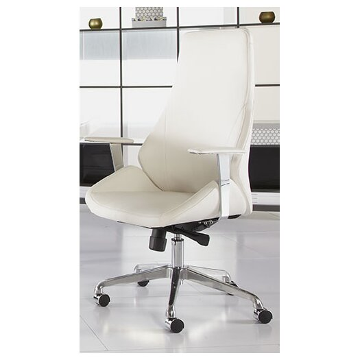 Eurostyle Bergen High-Back Leatherette Office Chair with Arms