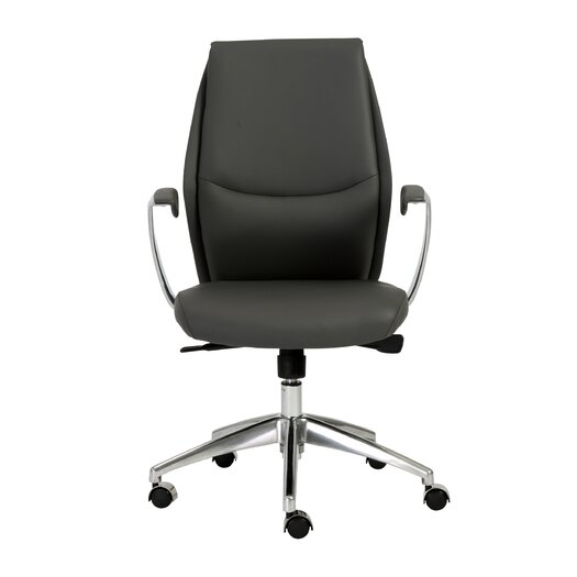Eurostyle Crosby Low-Back Leatherette Office Chair with Arms