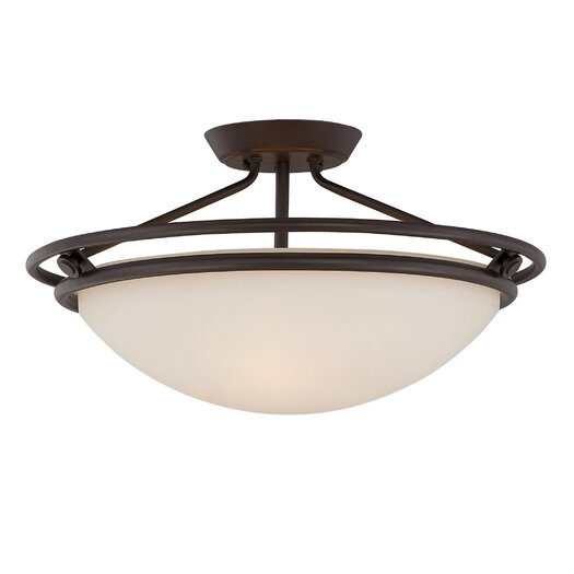 Quoizel Quoizel Fixture 3 Light Semi Flush Mount