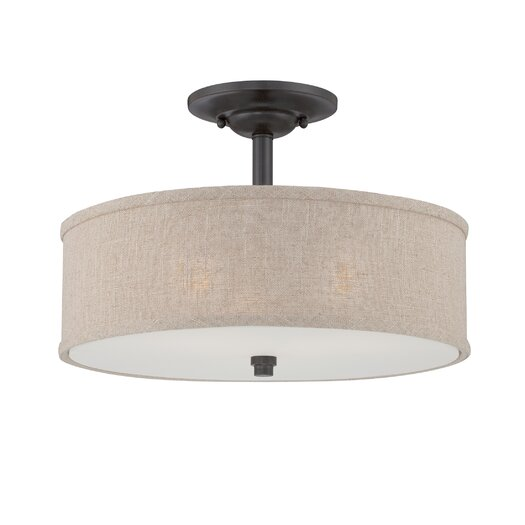 Quoizel Cloverdale 3 Light Semi-Flush Mount