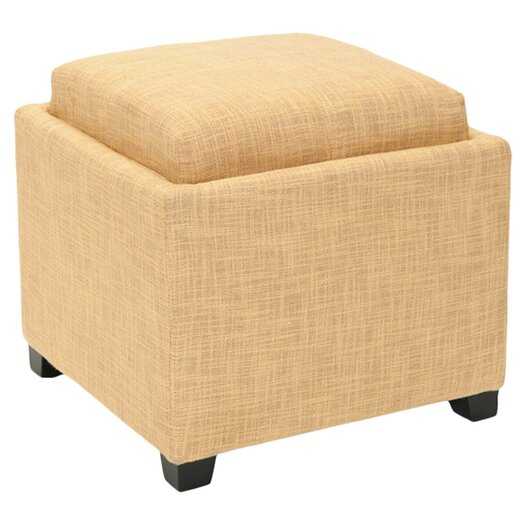 Safavieh Carter Single Tray Storage Ottoman