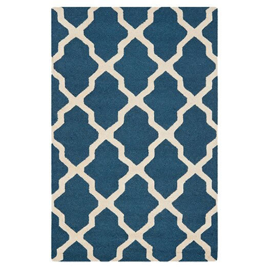 Safavieh Cambridge Lattice Navy Blue & Ivory Area Rug