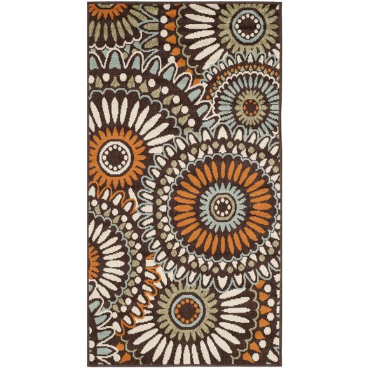 Safavieh Veranda Chocolate & Terracotta Outdoor Area Rug
