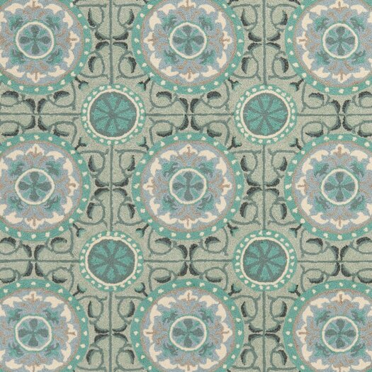 Safavieh Four Seasons Mint/Aqua Outdoor Area Rug