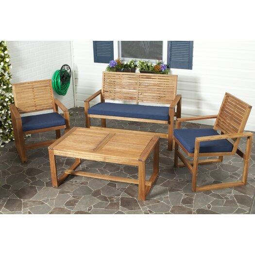 Safavieh Ozark 4 Piece Lounge Seating Group with Cushions
