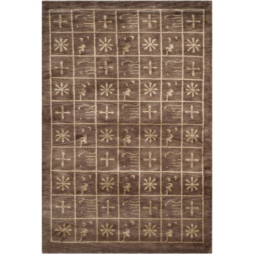 Safavieh Tibetan Plum Pictogram Brown Area Rug