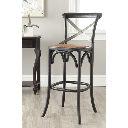 Safavieh Eleanor 30 7 Quot Bar Stool With Cushion Allmodern