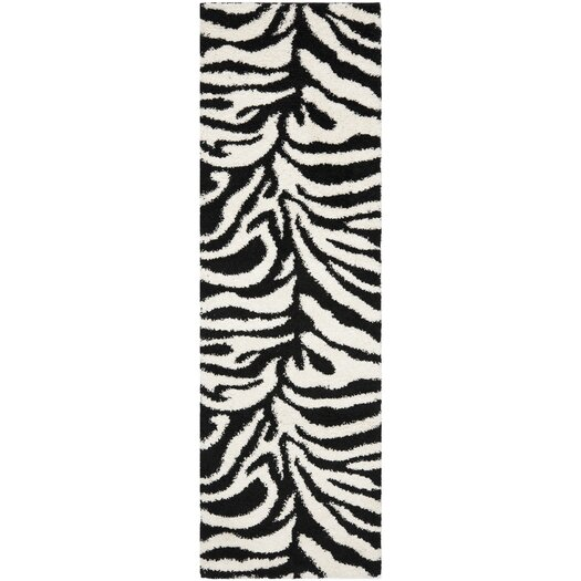 Safavieh Florida Shag Ivory/Black Area Rug