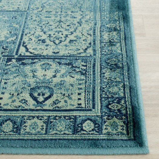 Safavieh Vintage Turquoise And Multi Colored Area Rug: Safavieh Vintage Turquoise & Multi Area Rug