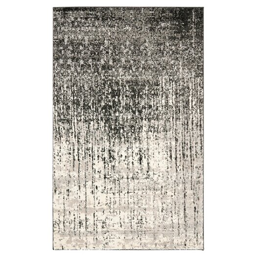 Safavieh Retro Black & Light Grey Area Rug