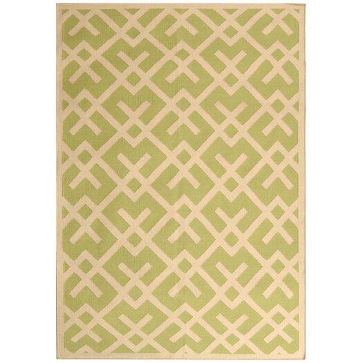 Safavieh Dhurries Light Green & Ivory Area Rug