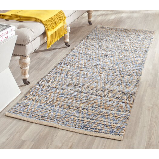 Safavieh Cape Cod Natural & Blue Area Rug