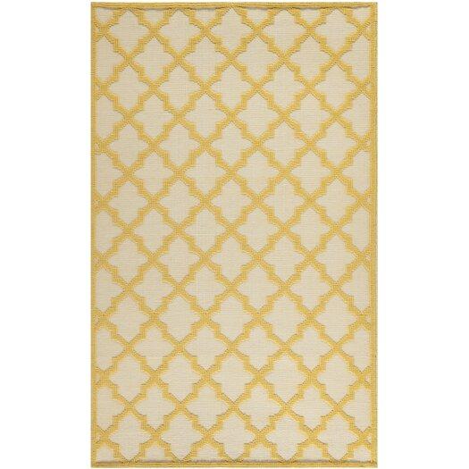 Safavieh Martha Stewart Puzzle Floral Ivory/Gold Outdoor Area Rug