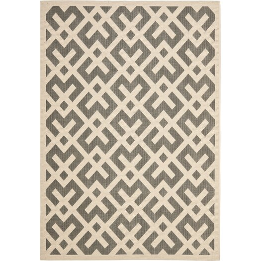Safavieh Courtyard Grey/Bone Indoor/Outdoor Area Rug