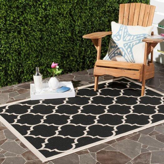 Safavieh Courtyard Black/Beige Indoor/Outdoor Area Rug