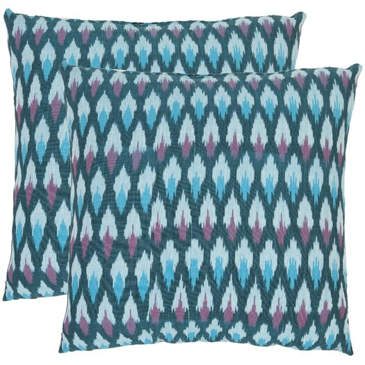 Safavieh Taylor Ikat Diamond Cotton Throw Pillow