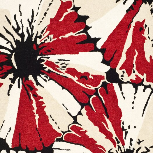 Safavieh Soho Black/Red Area Rug