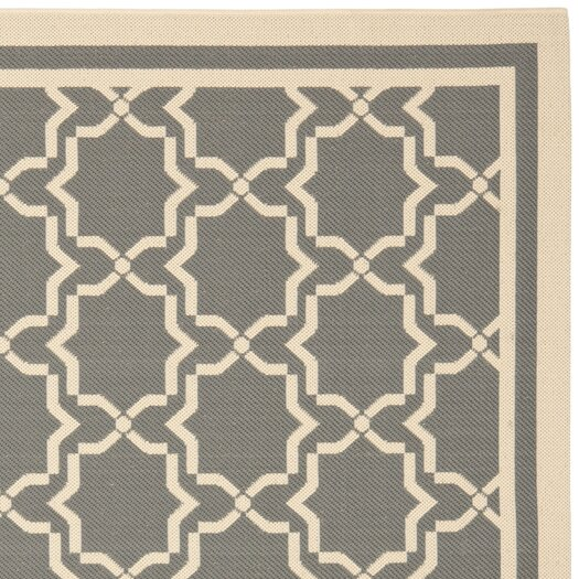 Safavieh Courtyard Anthracite/Beige Outdoor Area Rug