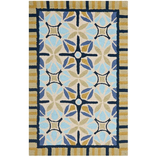 Safavieh Four Seasons Tan & Blue Area Rug