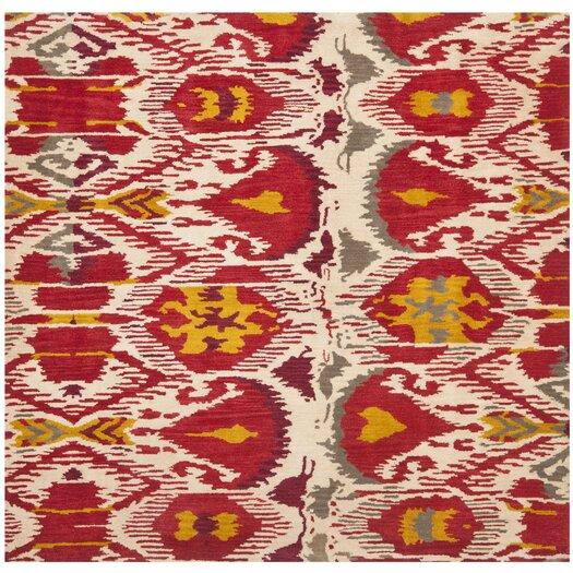Safavieh Ikat Ivory/Red Area Rug