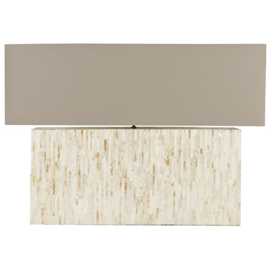 """Safavieh Ayers Mother Of Pearl Tile 15.8"""" H Table Lamp with Rectangular Shade"""